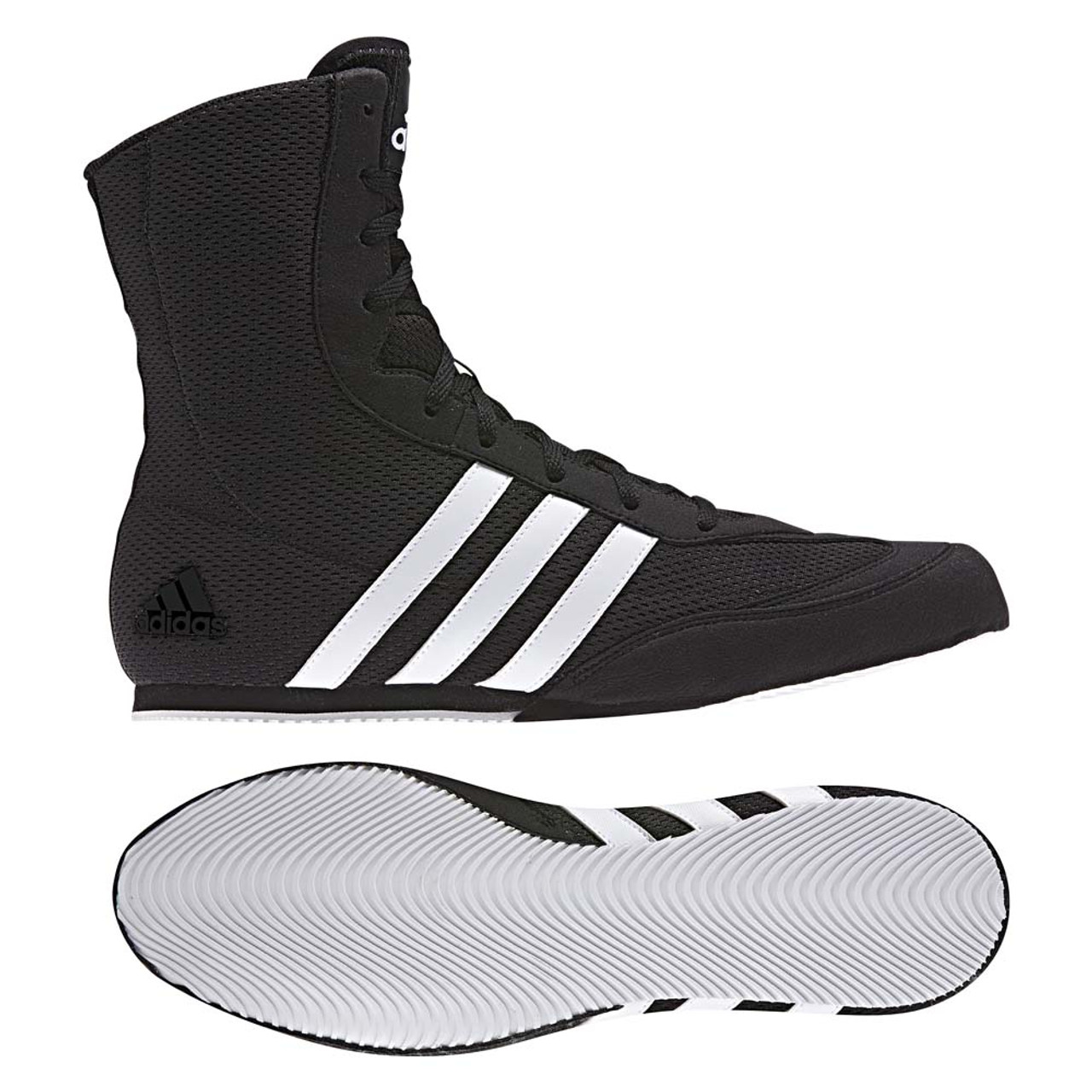 new products 51f8a 0e178 Adidas 2017 Box Hog Boxing Boots Black White