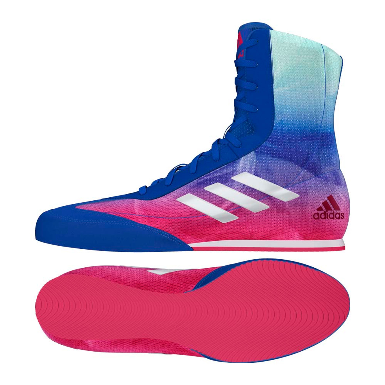 new style 69ae9 94a9d Adidas Box Hog Plus Boxing Boots BluePink