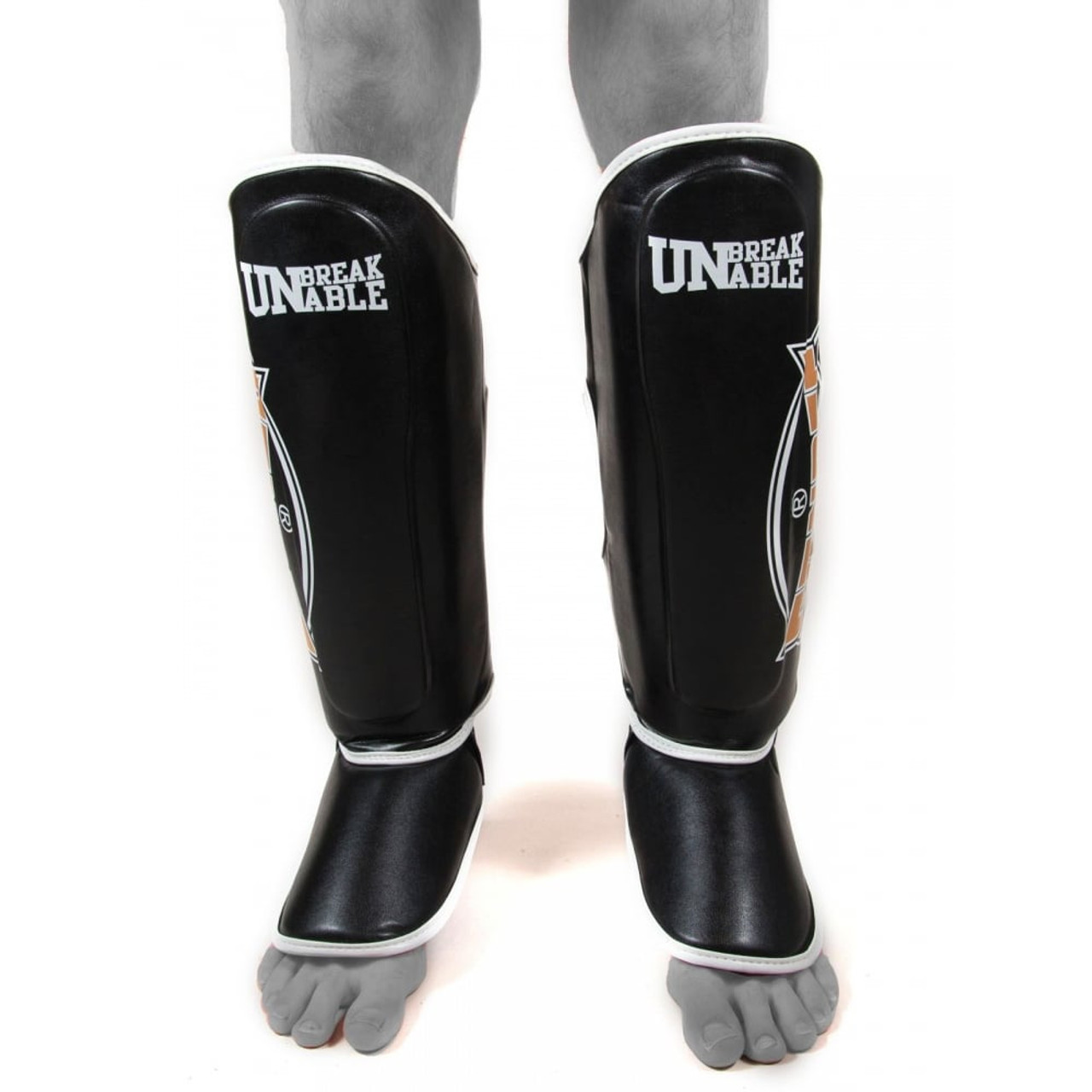 Sandee Muay Thai Shin Guards   Extra Small Black Kids Shin Guards