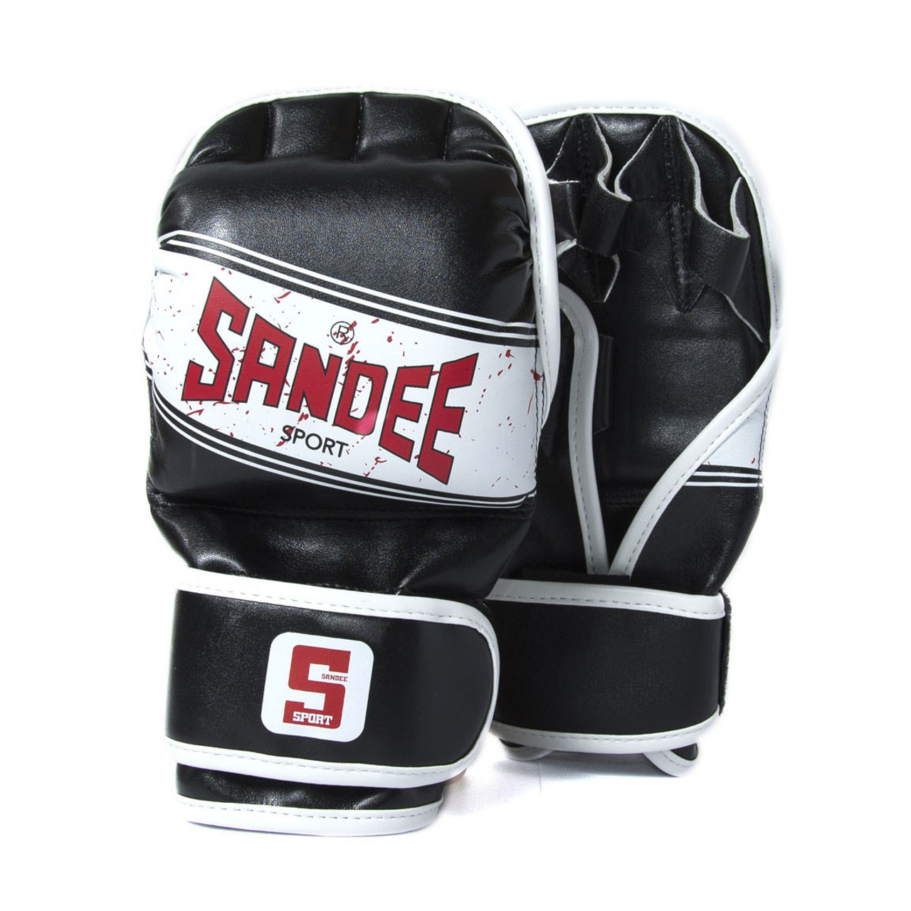 Sandee Black /& White Leather MMA Sparring Glove