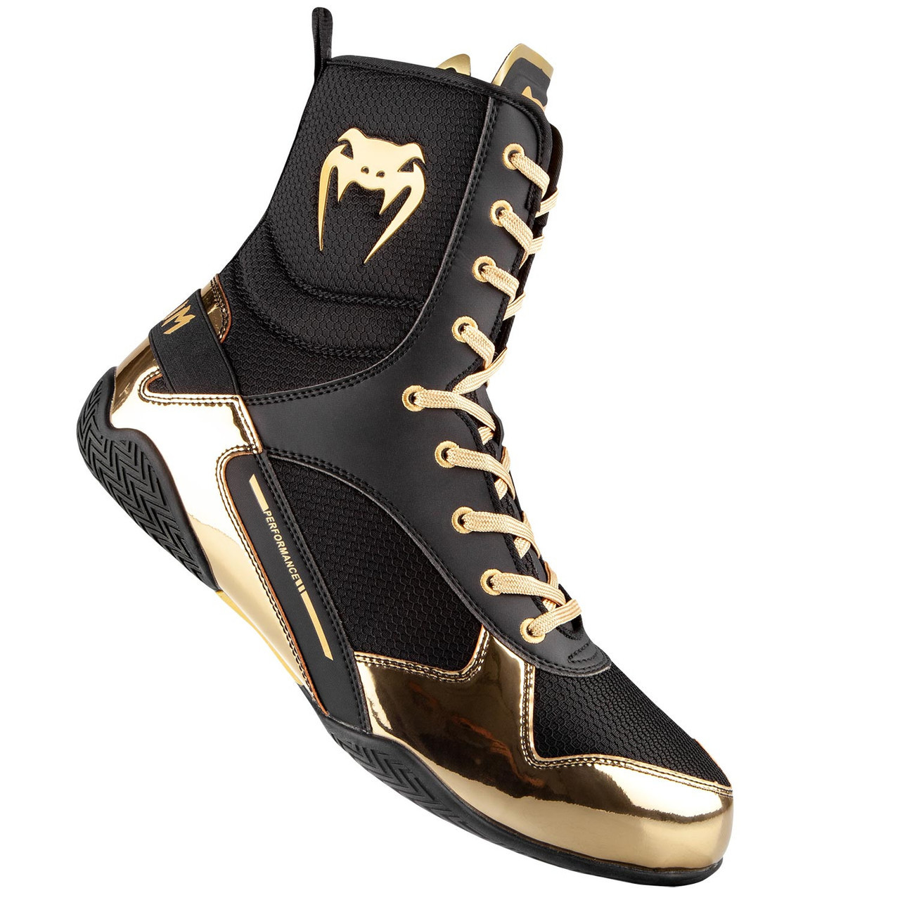 Tarjeta postal Consciente Recomendado  Venum Elite Boxing Shoes Black/Gold | Made4Fighters
