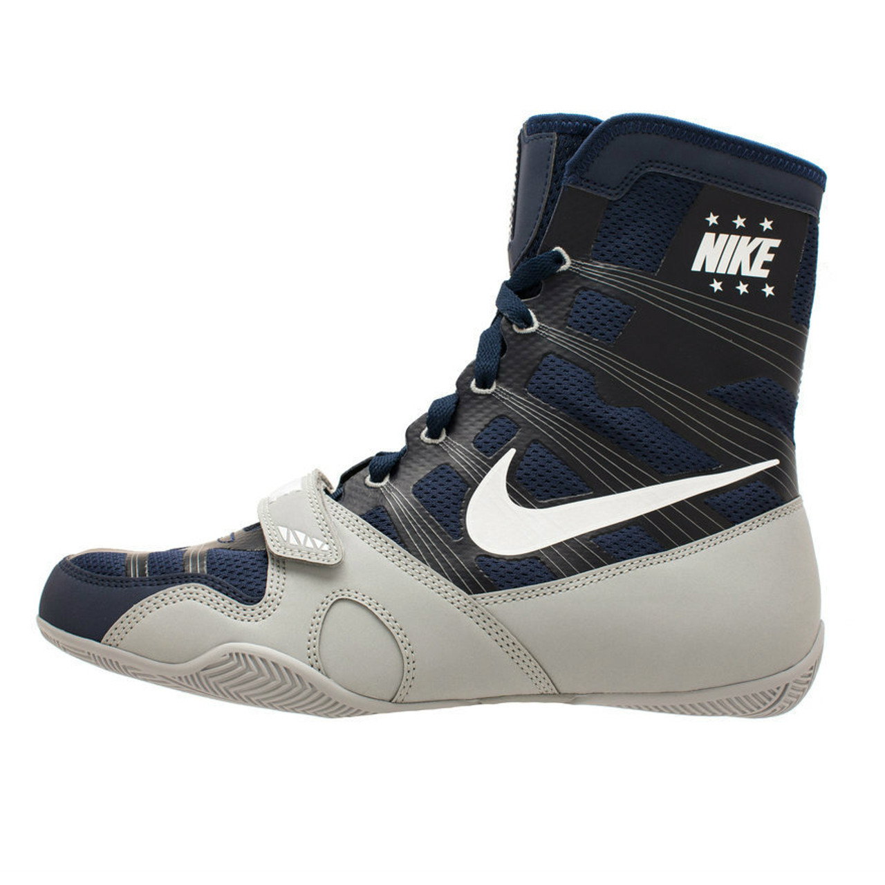 sports shoes 0c824 2d8ae Nike Hyper KO Limited Edition Boxing Boots Navy Silver ...