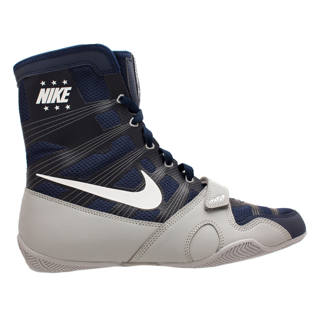 Nike Hyper KO Limited Edition Boxing Boots Navy/Silver | Made4Fighters