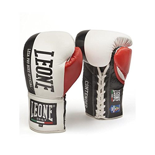 Leone 1947 Contender Lace Up Boxing Gloves 10oz White