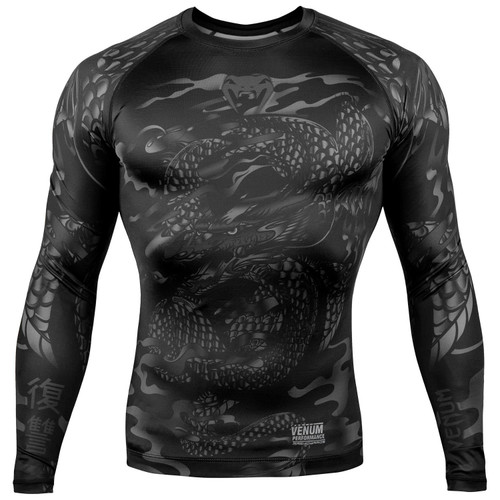 4d78fb56d4 Venum Dragon's Flight Long Sleeve Rash Guard Black
