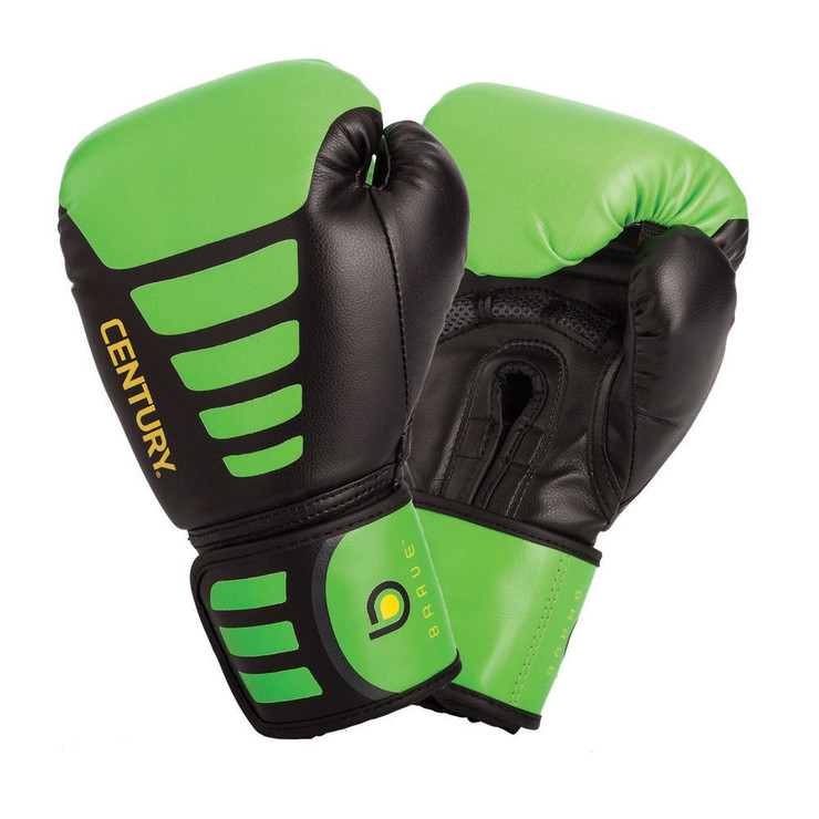 Century Brave Youth Boxing Gloves Black/Green 6oz