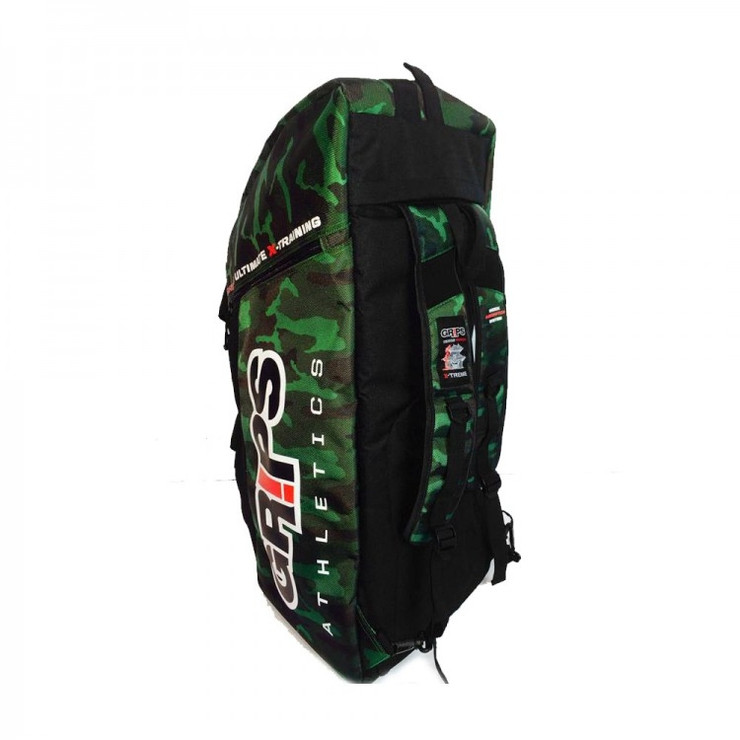 Grips Athletics Convertible Backpack/Duffle Bag Camo