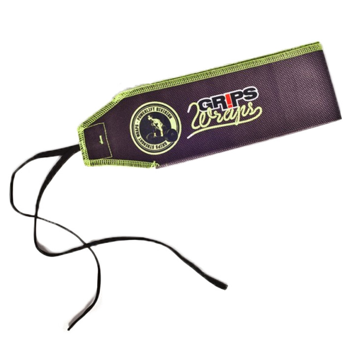 Grips Weight Lifting Wrist Wraps - Fluorescent Carbon
