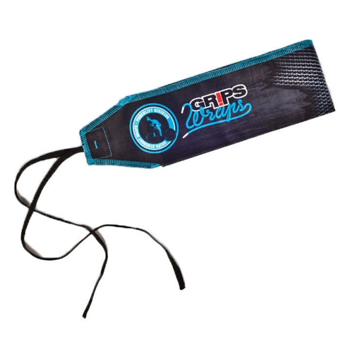 Gr1ps Weight Lifting Wrist Wraps - Cracking Blue
