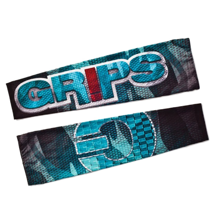 Grips Athletics Carbon Army Mens Rash Guard Sleeves Blue