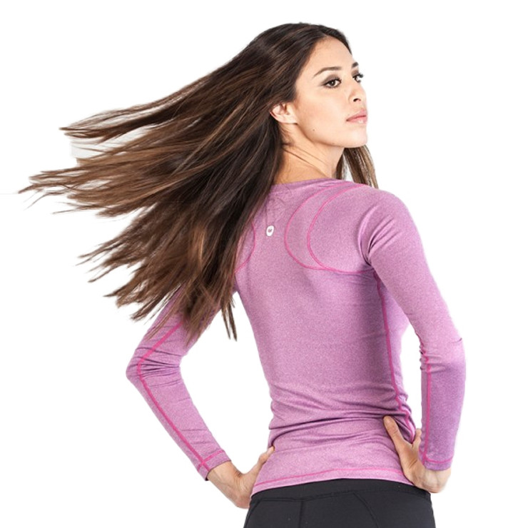 Gr1ps Athletics Fitness Long Sleeve Ladies T Shirt Pink