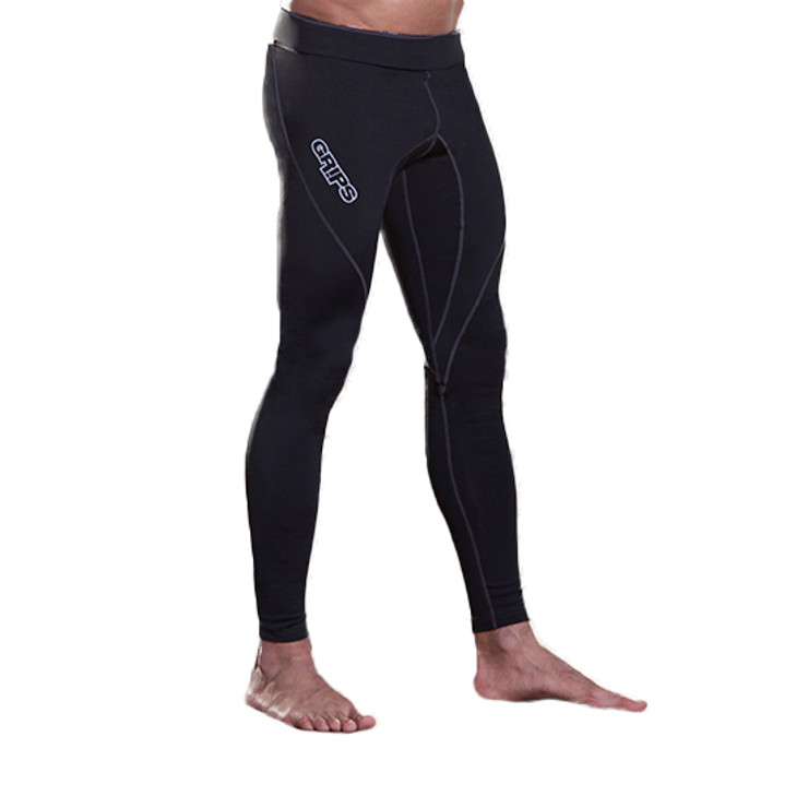 Grips Athletics Performance Mens Compression Leggings Black