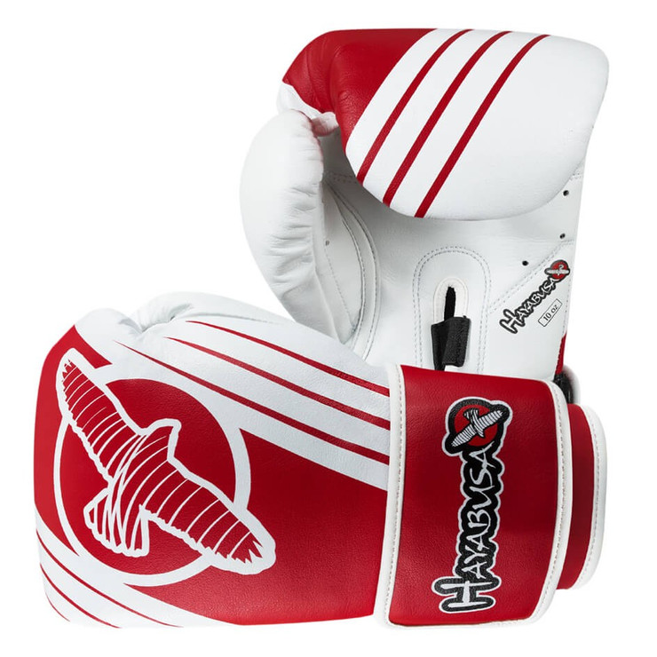 Hayabusa Ikusa Recast 10oz Boxing Gloves White/Red