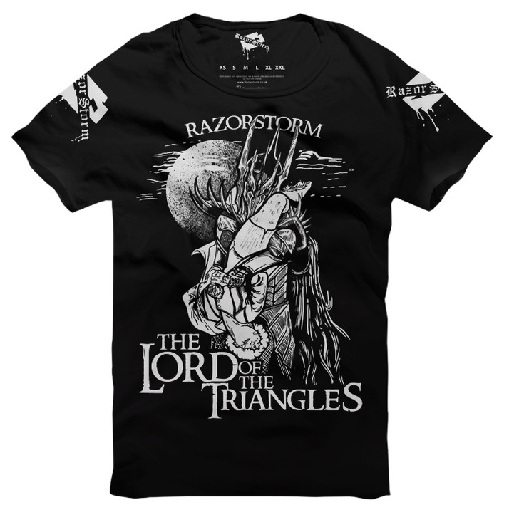 Razorstorm Lord of the Triangles T Shirt Black