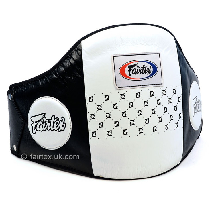 Fairtex BPV1 Leather Belly Pad Black