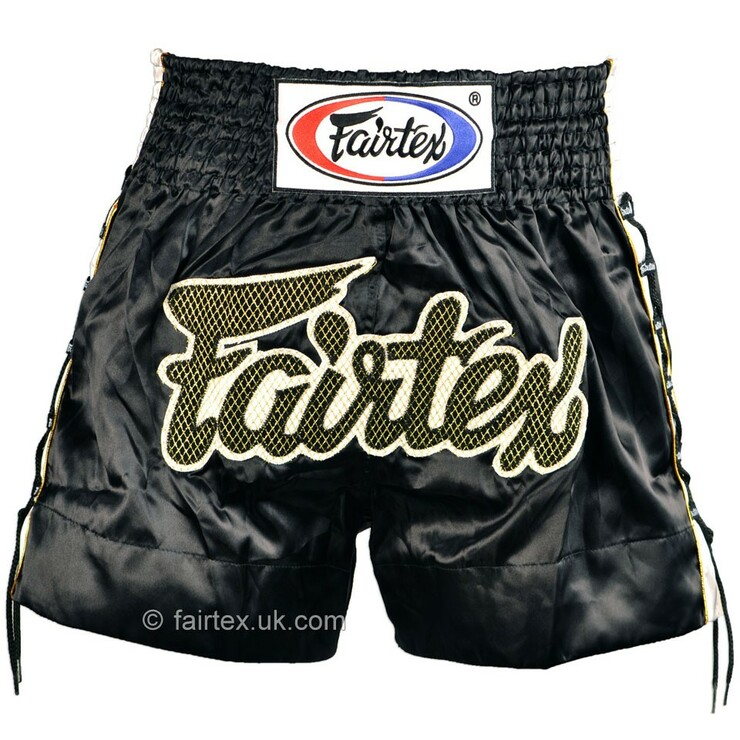 Fairtex Laced Side Muay Thai Shorts Black