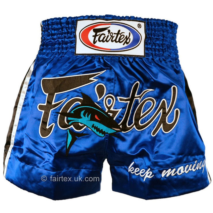 Fairtex Shark Muay Thai Shorts Blue