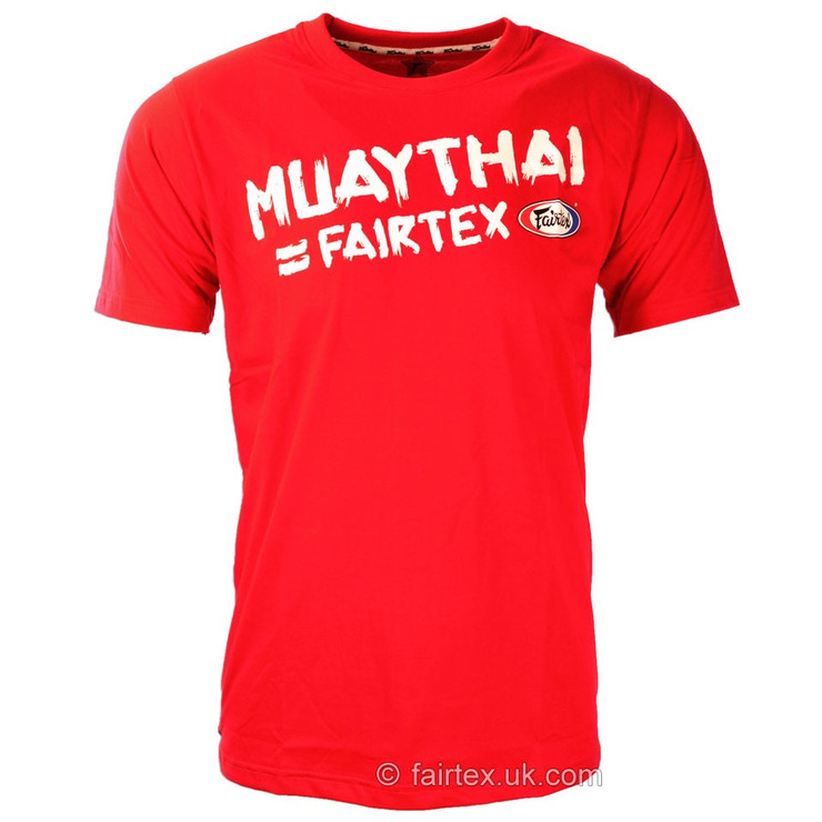 Fairtex Muay Thai T Shirt Red