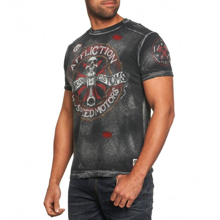 Affliction AC Chopped Tape T-Shirt