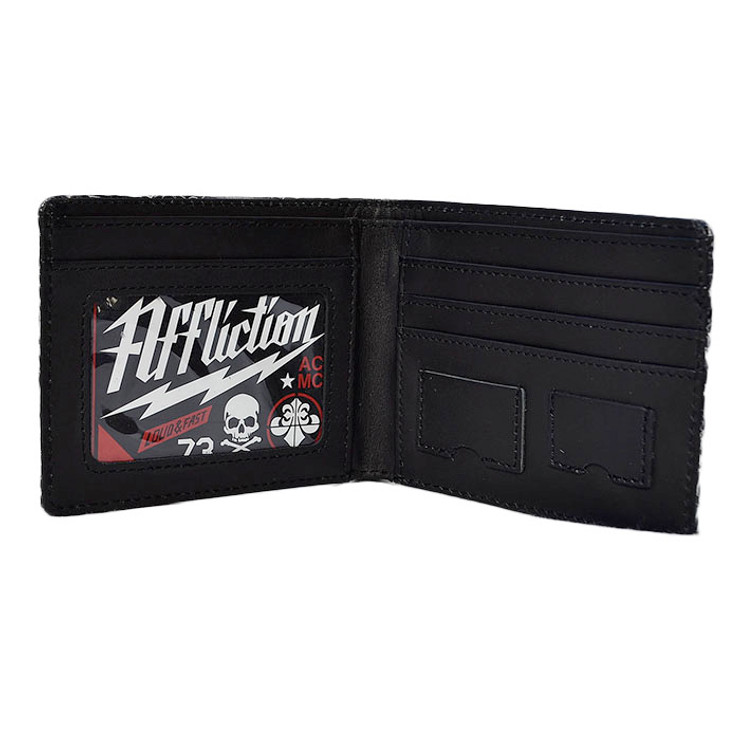 Affliction Speed Metal Leather Wallet