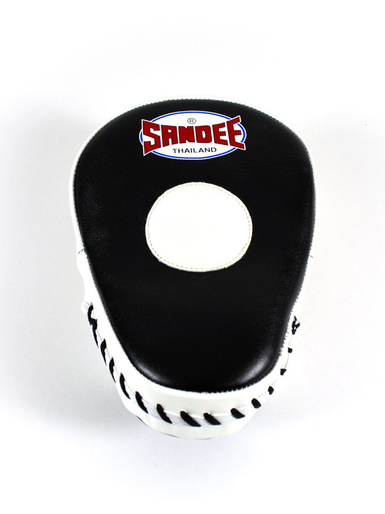 Sandee Curved Leather Focus Mitts Black/White