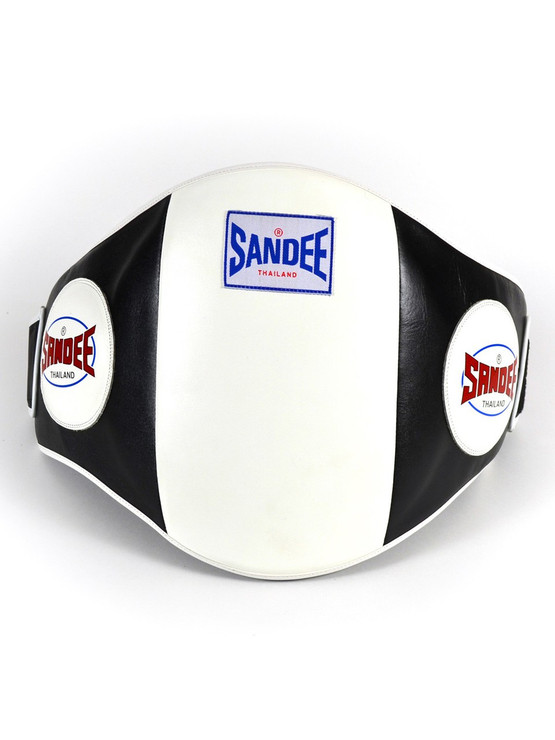 Sandee Leather Velcro Belly Pad Black/White