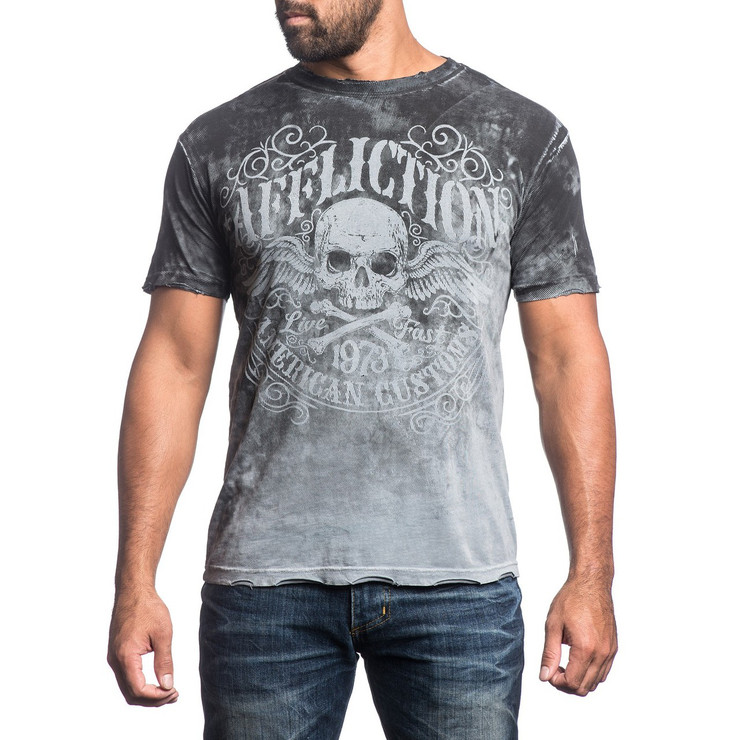 Affliction Decompose Short Sleeve T-Shirt Grey