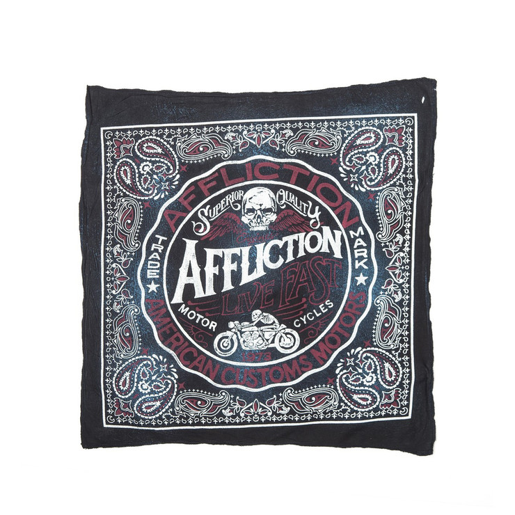 Affliction AC Sawmill Bandana Blue/Black