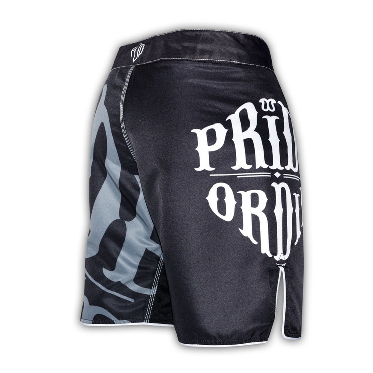 Pride Or Die Reckless Fight Shorts Black/White