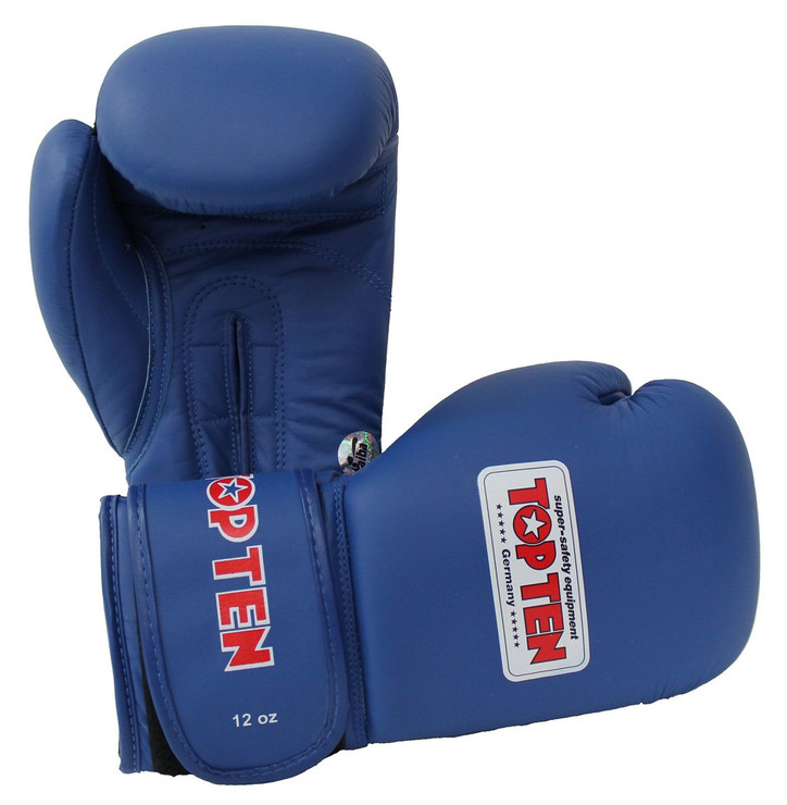 Top Ten AIBA Approved Boxing Gloves 12oz Blue