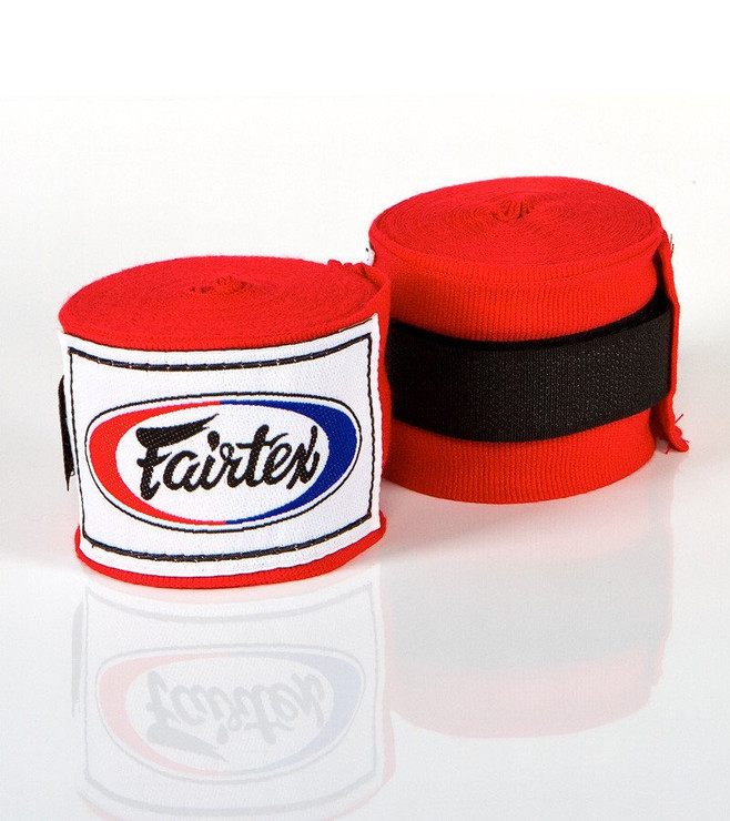 Fairtex HW2 Hand Wraps Red