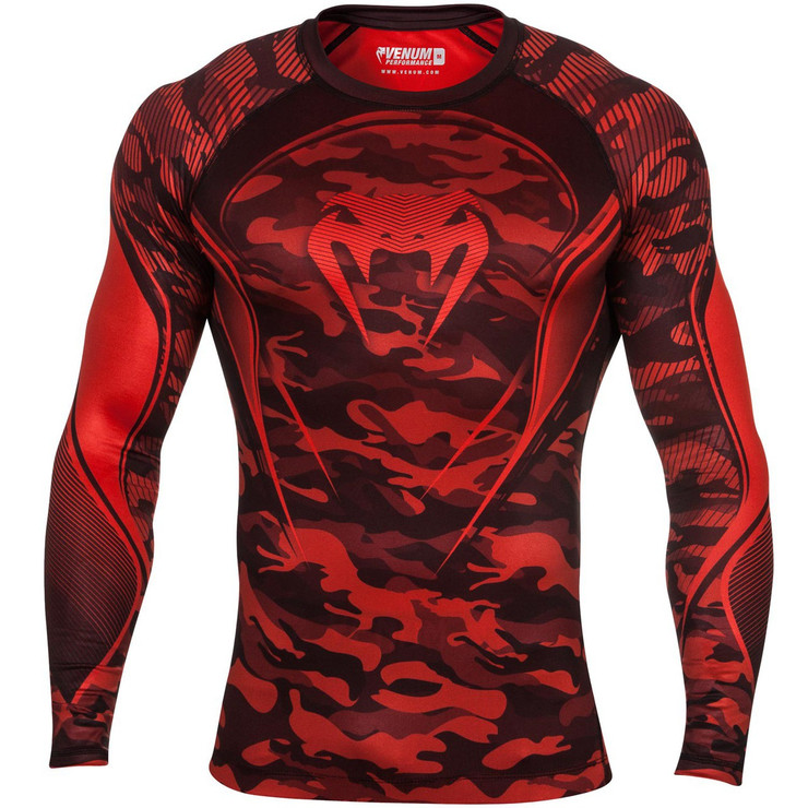 Venum Camo Hero Compression T-Shirt Red