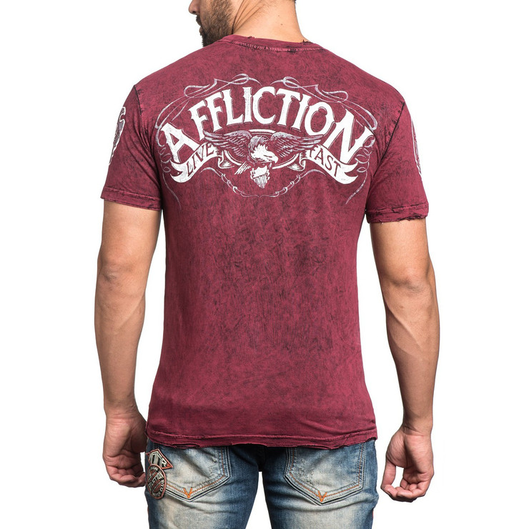 Affliction Prohibition Reversible Crewneck T-Shirt