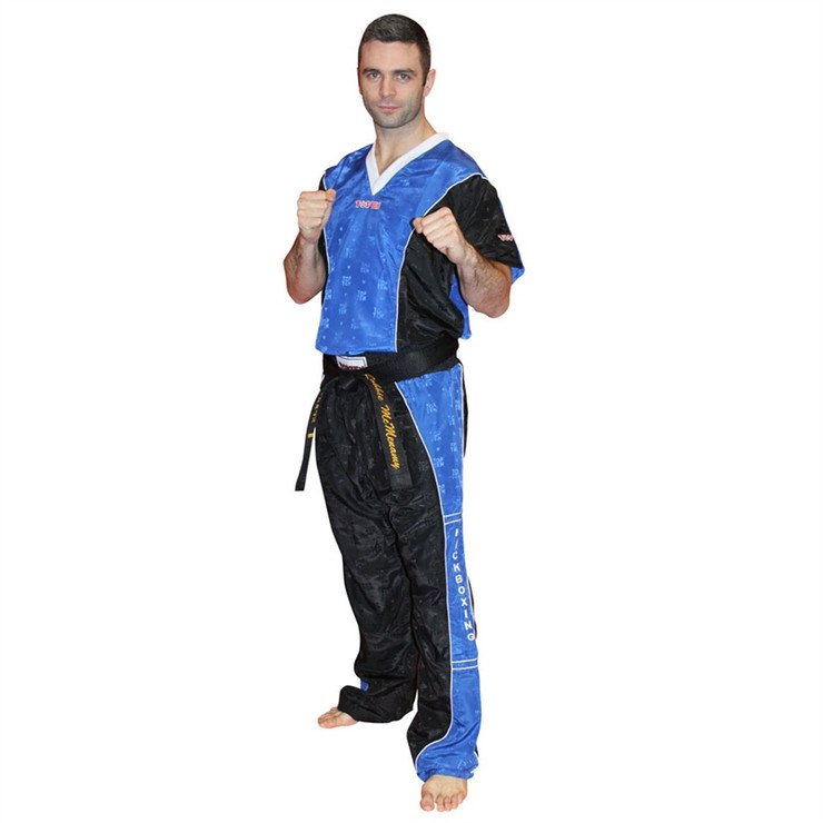 Top Ten Kickboxing Uniform Pants Black/Blue