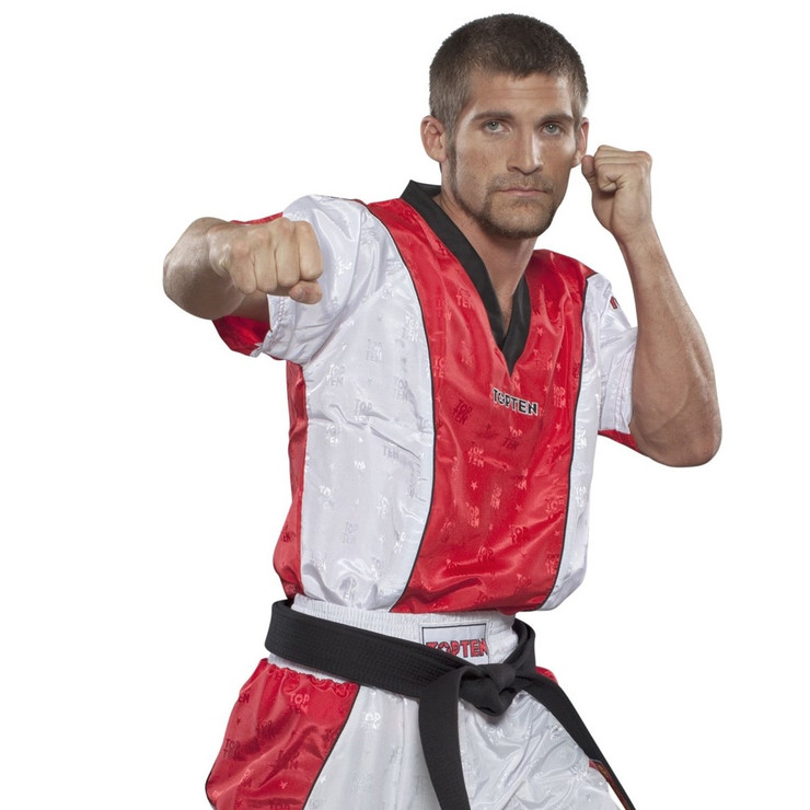 Top Ten Kickboxing Jacket White/Red