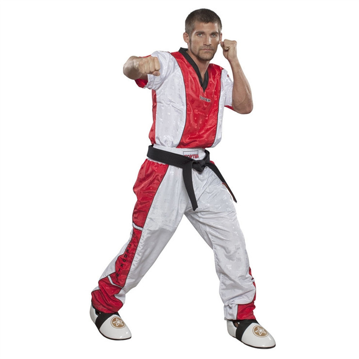 Top Ten Kickboxing Uniform Pants White/Red