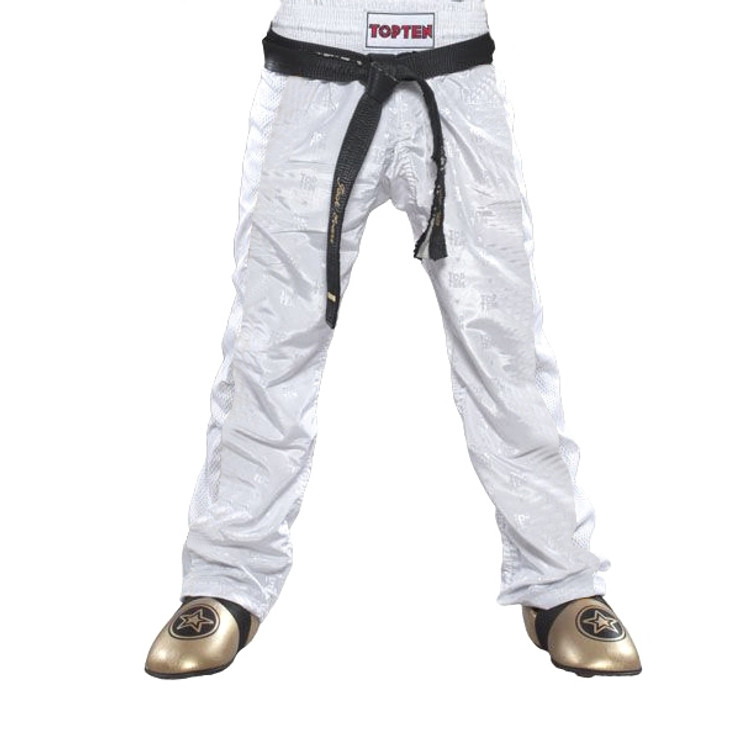 Top Ten Mesh Kickboxing Pants White