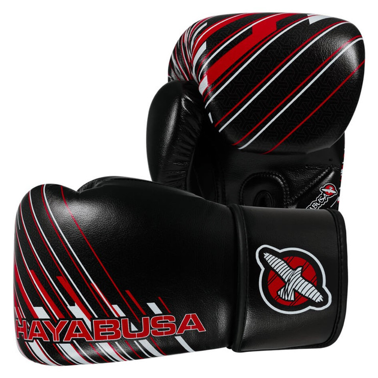 Hayabusa Ikusa Charged Boxing Gloves 14oz Black/Red