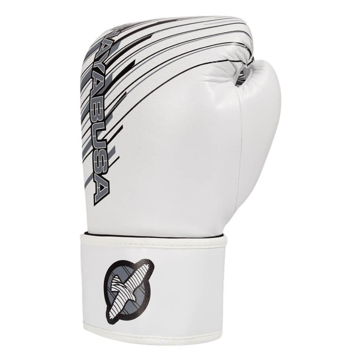 Hayabusa Ikusa Charged Boxing Gloves 12oz White/Grey