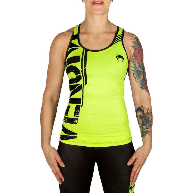 Venum Power Ladies Tank Top Black/Yellow