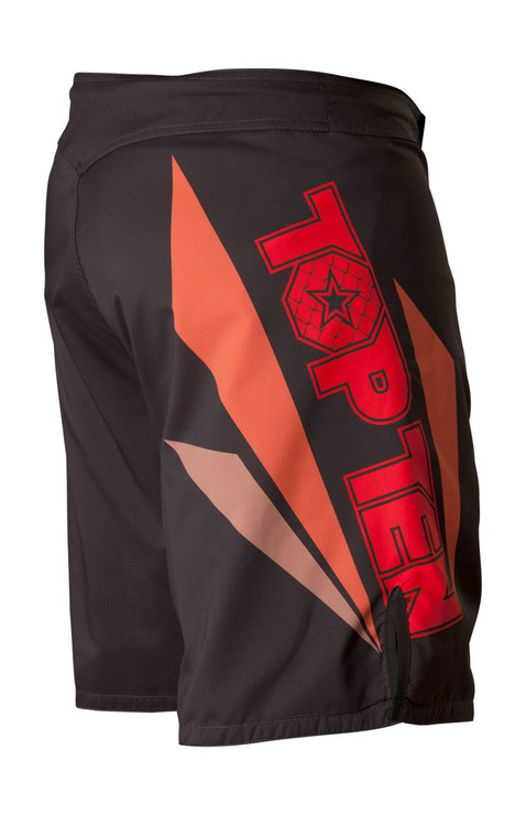 Top Ten Triangle MMA Shorts Black/Red
