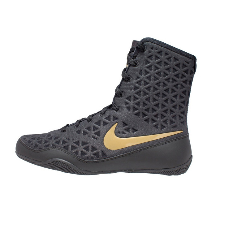 Nike KO Black Boxing Boots with Gold