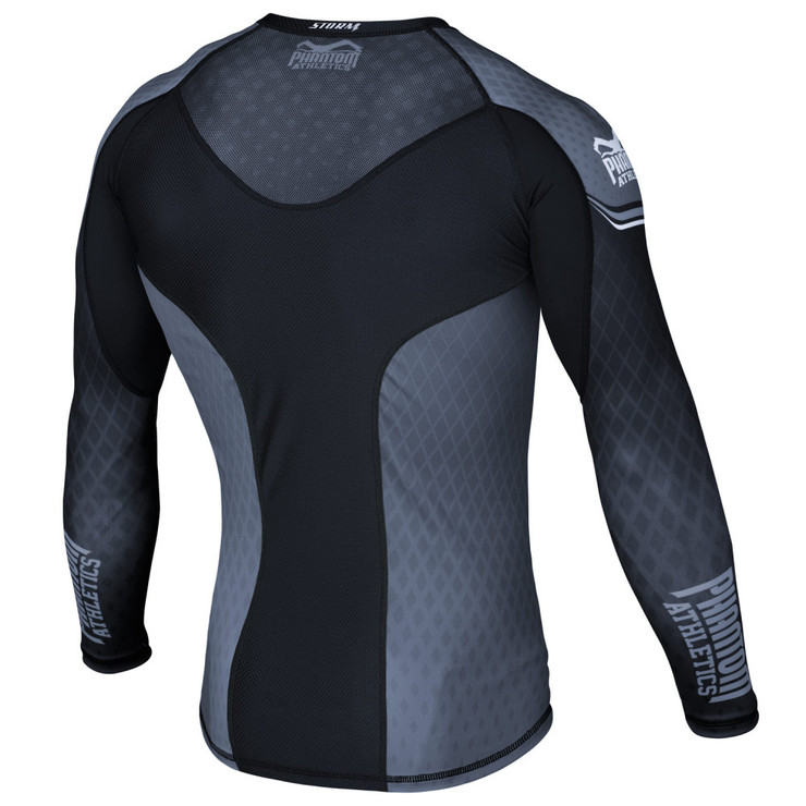 Phantom Athletics Storm Nitro Long Sleeve Rashguard Black/Grey