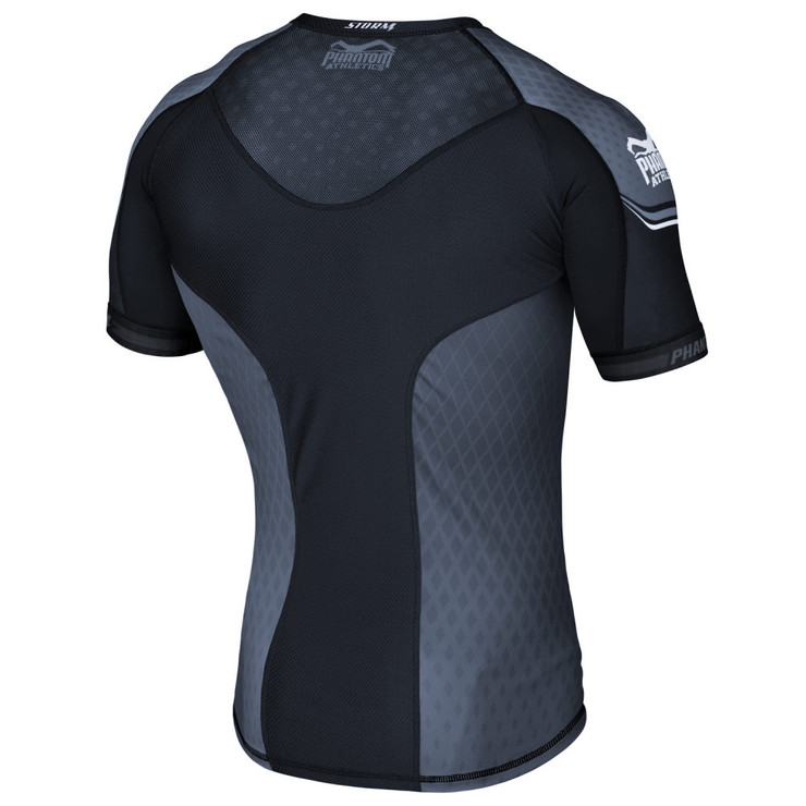Phantom Athletics Storm Nitro Short Sleeve Rashguard Black/Grey