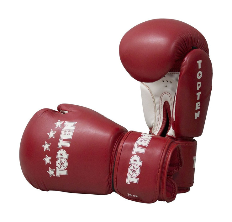 Top Ten R2M 2016 Boxing Gloves 10oz Red/White