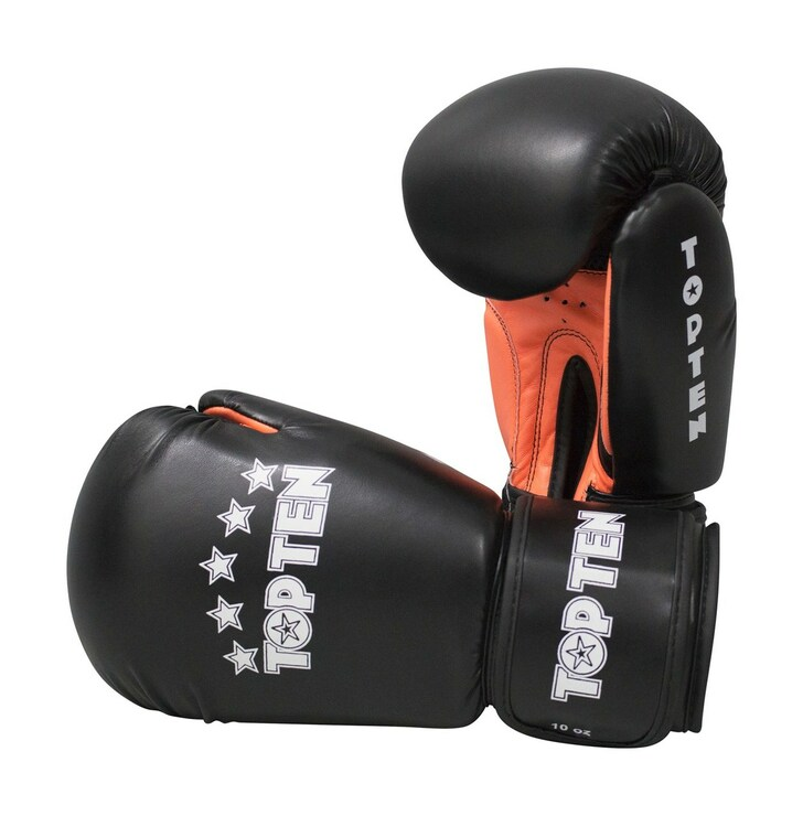 Top Ten R2M 2016 Boxing Gloves 10oz Black/Orange