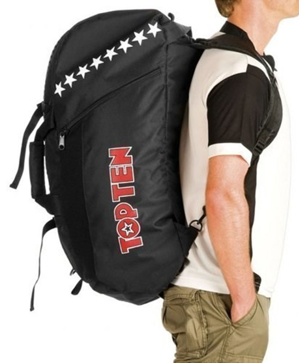 Top Ten Convertible Sports Bag/Backpack Black