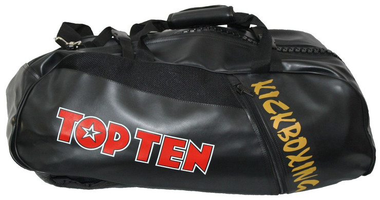 Top Ten Kickboxing Convertible Sport Bag/Backpack Black