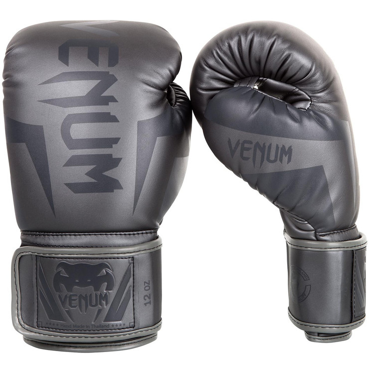 Venum Elite Boxing Gloves Grey/Grey