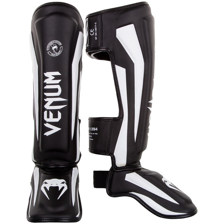 Venum Elite Shin Guard Black/White